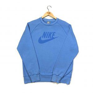vintage nike printed spell out logo blue sweatshirt