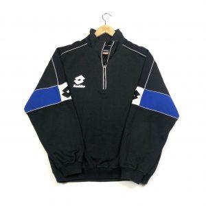 vintage lotto quarter-zip sweatshirt in black