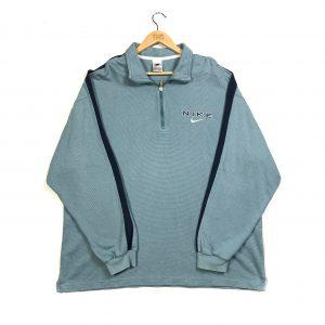 teal nike vintage quarter-zip sweatshirt