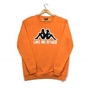 vintage kappa embroidered orange sweatshirt