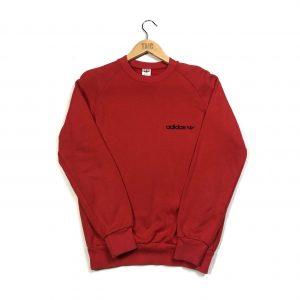 vintage adidas original essential logo red sweatshirt