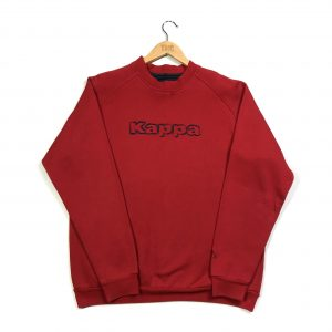 vintage kappa spell out logo red sweatshirt