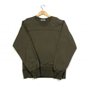 vintage nike miniature swoosh logo khaki sweatshirt