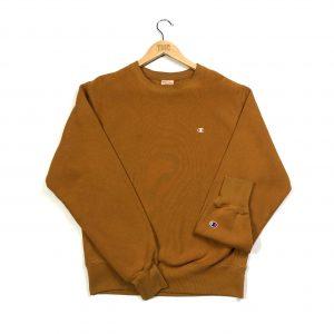 vintage ochre champion essential sweatshirt