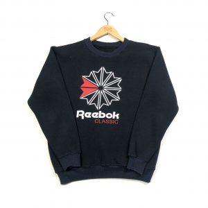 vintage reebok classic navy printed sweatshirt