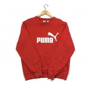 vintage puma red embroidered sweatshirt