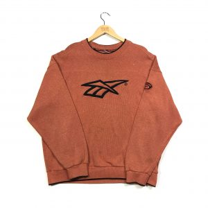 vintage reebok embroidered big logo sweatshirt