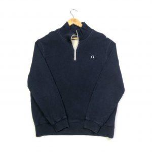 vintage clothing fred perry navy quarter zip sweatshirt