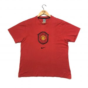 vintage nike manchester united embroidered swoosh t-shirt