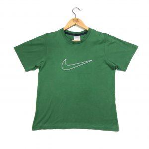 vintage nike big centre swoosh logo green t-shirt