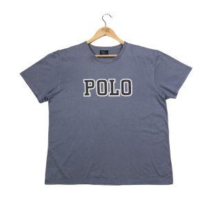 vintage ralph lauren polo spell out blue t-shirt