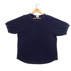 vintage lacoste navy big centre logo navy t-shirt