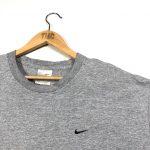 vintage clothing nike embroidered swoosh logo marl grey t-shirt