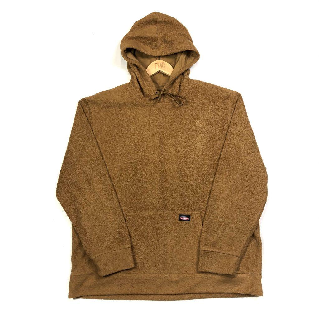 vintage dickies brown sherpa fleece hoodie