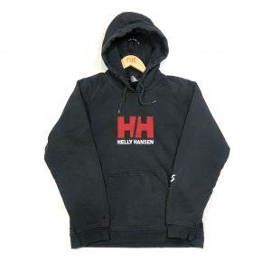 helly hensen embroidered big logo black hoodie