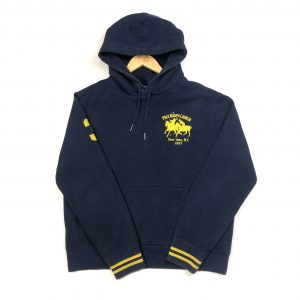 vintage ralph lauren polo embroidered navy hoodie