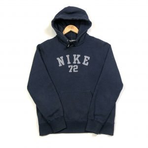 vintage nike embroidered spell out logo hoodie