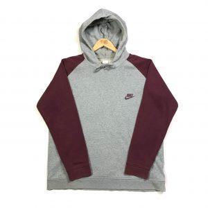 vintage nike essential logo grey hoodie