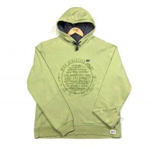 vintage nike lime green graphic hoodie