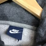 vintage clothing nike swoosh logo grey hoodie
