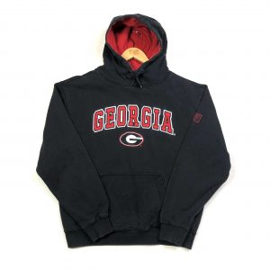 vintage usa georgia state embroidered spell out american hoodie