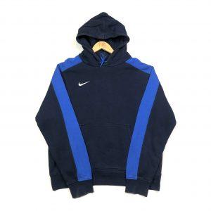 vintage clothing nike essential swoosh navy hoodie