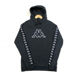 vintage clothing kappa tape logo sleeves black hoodie
