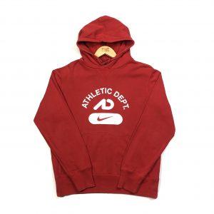 vintage nike centre swoosh logo red hoodie