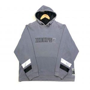vintage nike usa basketball embroidered grey hoodie
