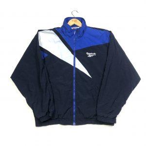 vintage reebok navy essential track jacket