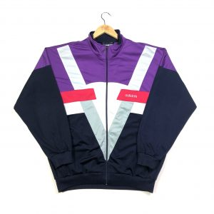 vintage 90s adidas zip up navy track jacket