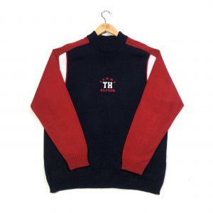 vintage tommy hilfiger monogram logo knit jumper