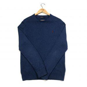 vintage ralph lauren navy knitted jumper