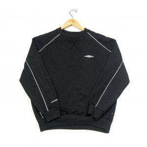 vintage umbro essential logo black sweatshirt