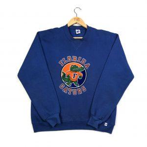 vintage usa nfl florida gators printed blue sweatshirt