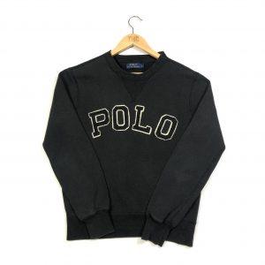 vintage ralph lauren embroidered polo black sweatshirt