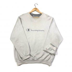 vintage champion grey quarter-zip sweatshirt