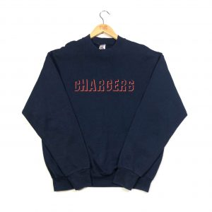 vintage usa nfl los angeles chargers embroidered navy team sweatshirt