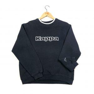 vintage clothing kappa spell out logo navy sweatshirt