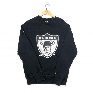vintage usa nfl oakland raiders printed black sweatshirt