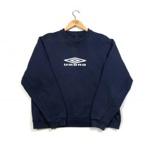 vintage umbro embroidered logo navy crew sweatshirt