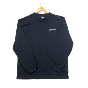 vintage reebok navy essential v neck sweatshirt