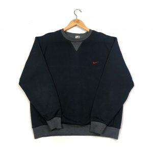 vintage clothing nike embroidered swoosh logo black sweatshirt