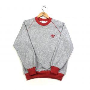 vintage adidas originals trefoil logo grey sweatshirt