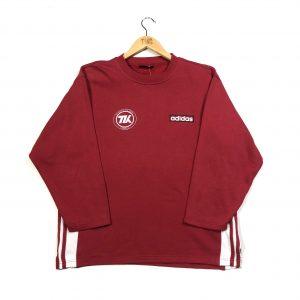 vintage_adidas_3_stripes_printed_back_red_sweatshirt