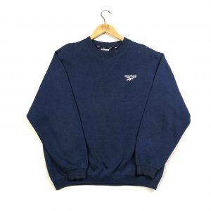 vintage clothing reebok embroidered logo navy sweatshirt