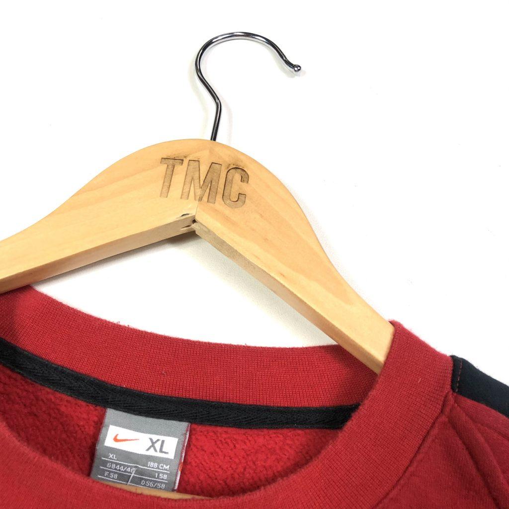 vintage clothing nike swoosh essential red sweatshirt