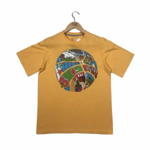 vintage nike printed basketball graphic yellow t-shirt