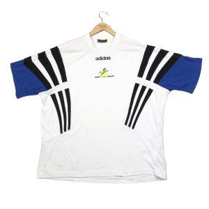 vintage clothing adidas centre logo 3-stripes white t-shirt