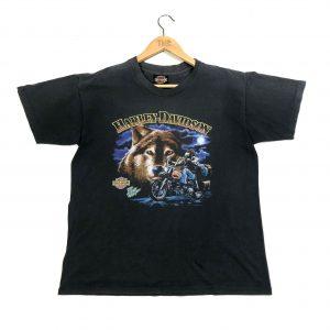 vintage clothing harley davidson printed graphic grey t-shirt